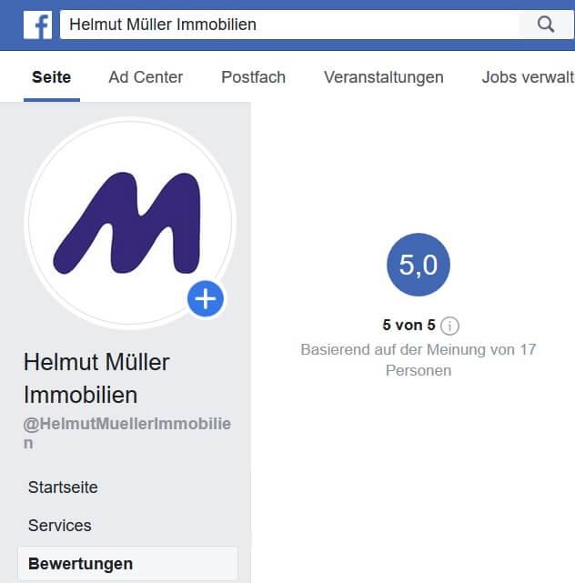 Facebook Bewertung Stand November 2019
